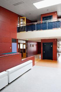 Examples of High-Traffic Spaces Where HPL Cladding Thrives - School Lobby and Hallway