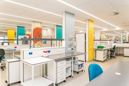 Middlemore Hospital using digitally printed Fundermax wall lining phenolic panels