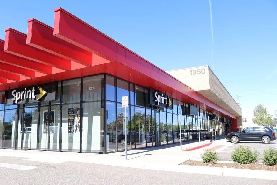 High-traffic shopping center using FunderMax's exterior phenolic panels.