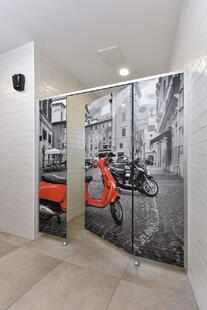Examples of High-Traffic Spaces Where HPL Cladding Thrives - custom bathrooms