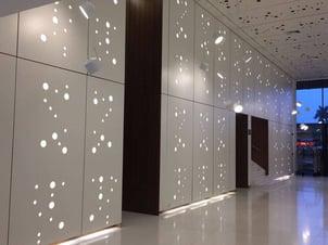 Examples of High-Traffic Spaces Where HPL Cladding Thrives - Esplendor Hotel Lobby