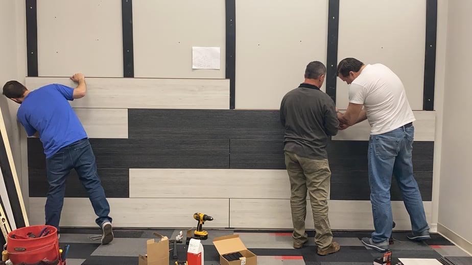 installation of Fundermax Modulo phenolic panels