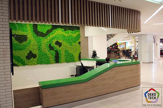 Examples of High-Traffic Spaces Where HPL Cladding Thrives - Mall Furniture and Lobby Desk
