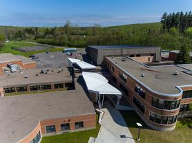 Eagle eye view of Sodus High School with Fundermax's HPL panels