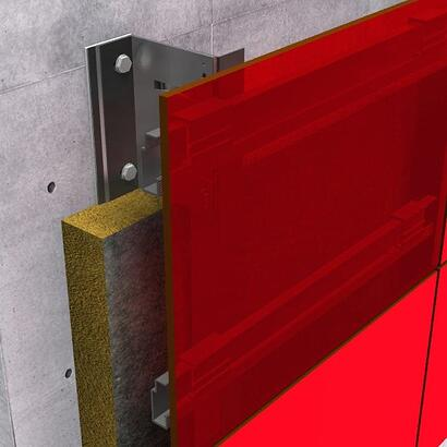 concealed fastening system with Fundermax panels
