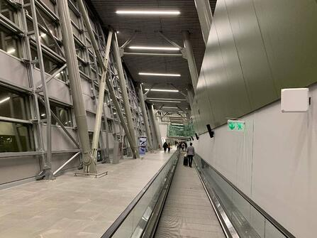Examples of High-Traffic Spaces Where HPL Cladding Thrives - Airport Walkways